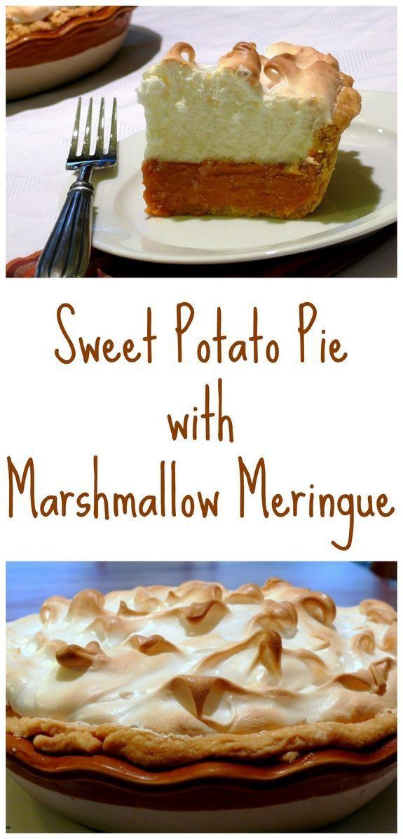 Sweet Potato Pie Thanksgiving  Sweet Potato Pie with Marshmallow Meringue