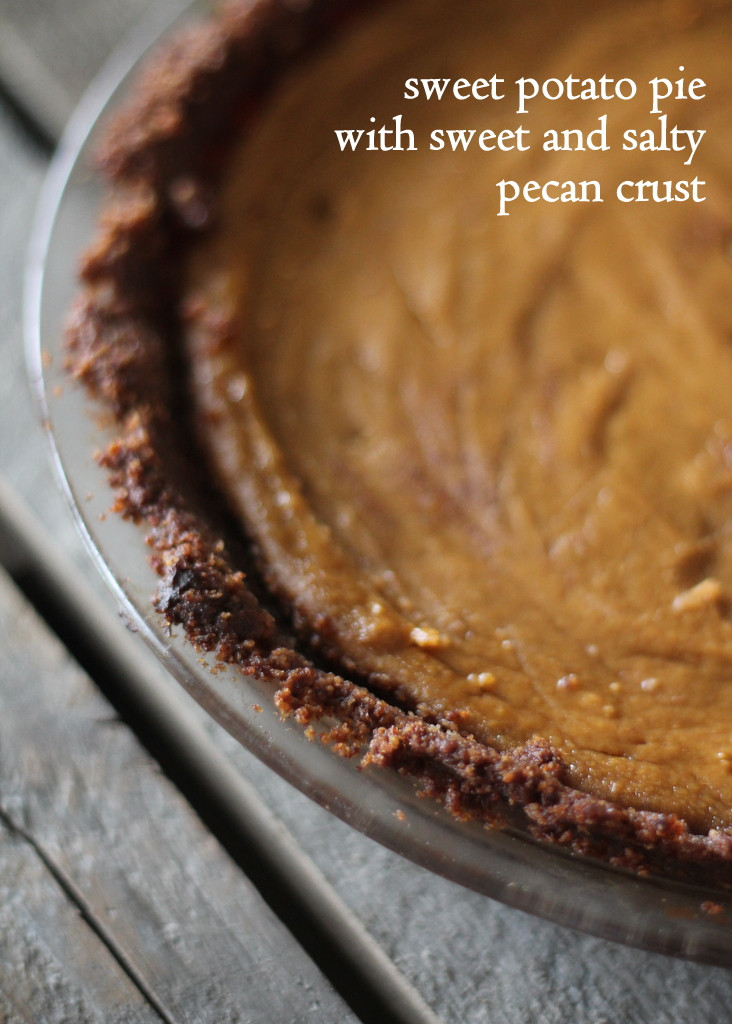 Sweet Potato Pie Thanksgiving  Sweet Potato Pie with Sweet and Salty Pecan Crust