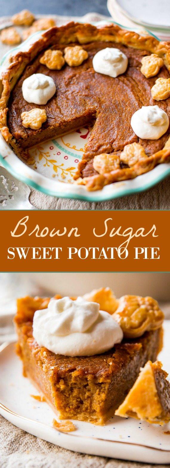 Sweet Potato Pie Thanksgiving  Brown Sugar Sweet Potato Pie Sallys Baking Addiction
