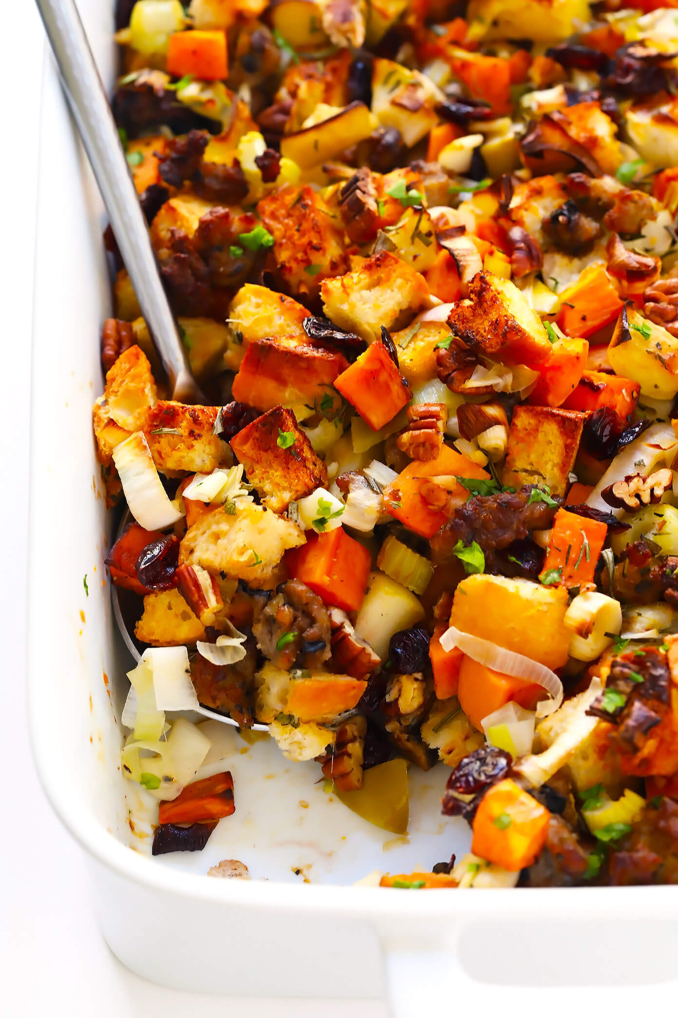 Sweet Potato Thanksgiving  The BEST Sausage and Sweet Potato Thanksgiving Stuffing