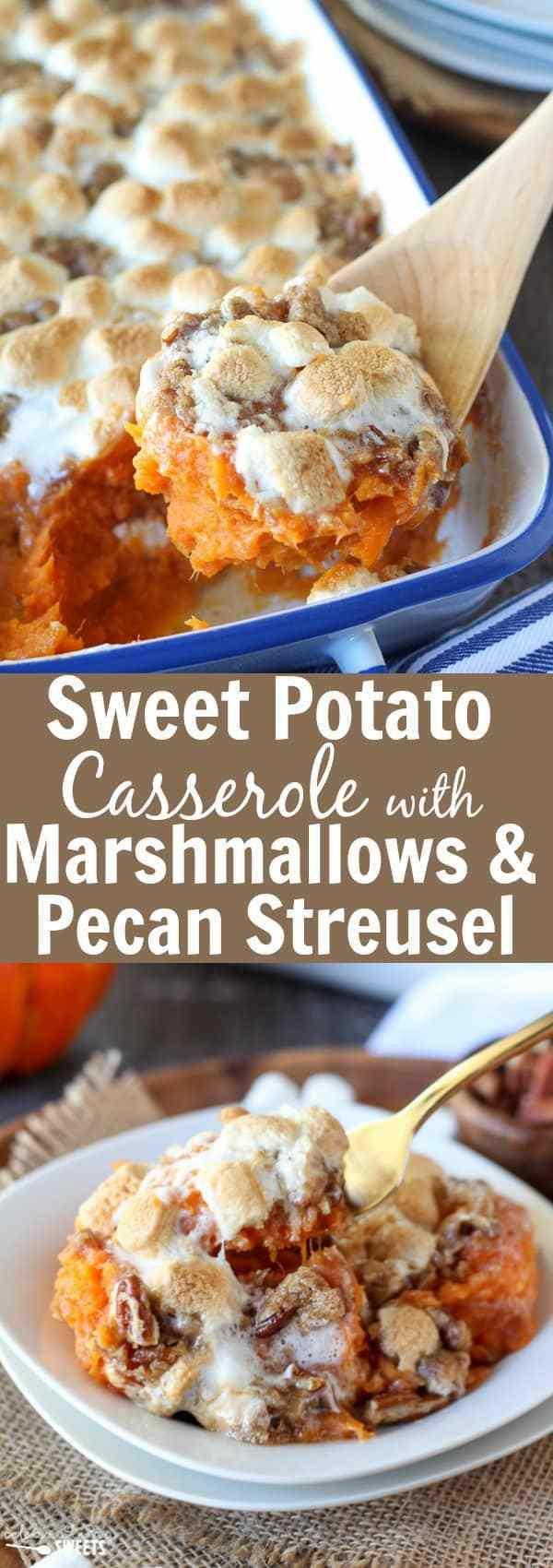 Sweet Potatoes Thanksgiving Marshmallows  Sweet Potato Casserole with Marshmallows & Streusel