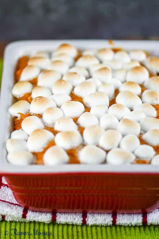 Sweet Potatoes Thanksgiving Marshmallows  Sweet Potato Casserole with Marshmallows Flavor Mosaic