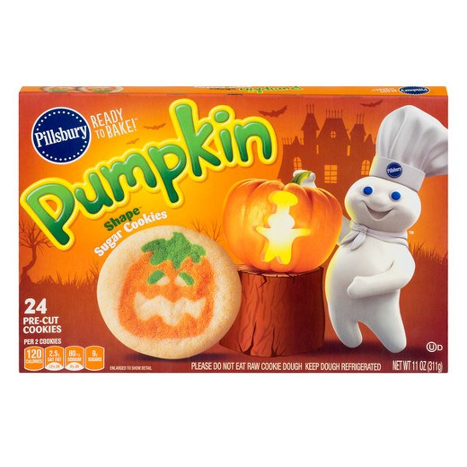 Target Halloween Cookies  Pillsbury Pumpkin Shape Sugar Cookies 11oz Tar