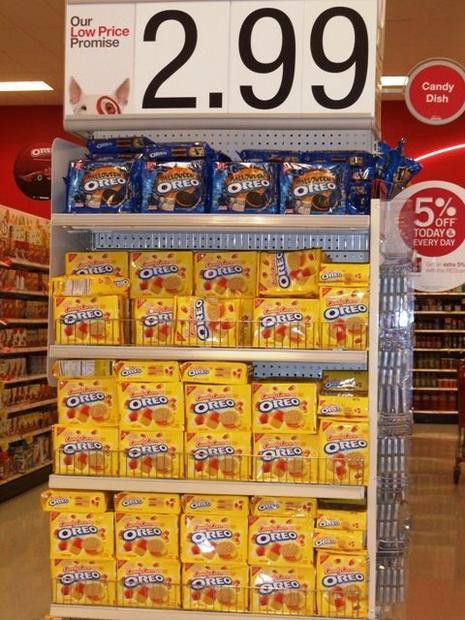 Target Halloween Cookies  Candy corn Oreos debut at Tar stores for Halloween