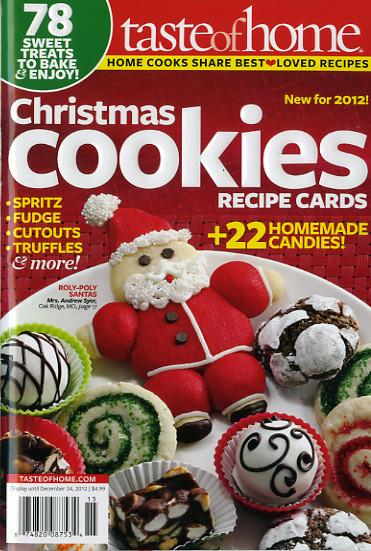Taste Of Home Christmas Cookies  Taste of Home Christmas Cookies recipe cards