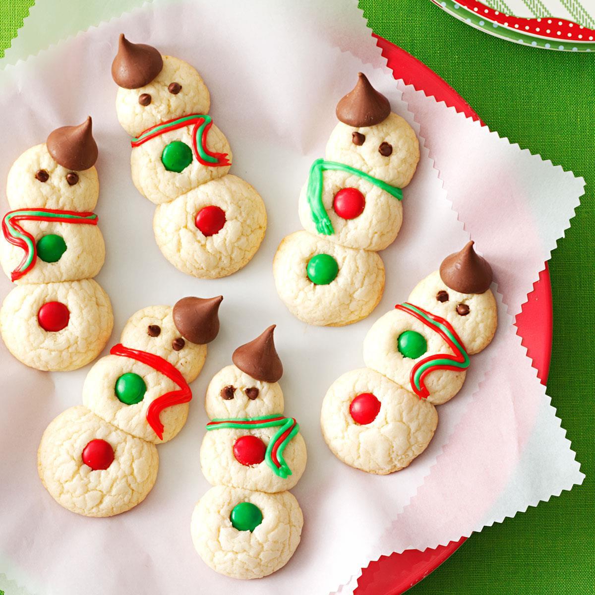 Taste Of Home Christmas Cookies  Snowman Cookies Recipe