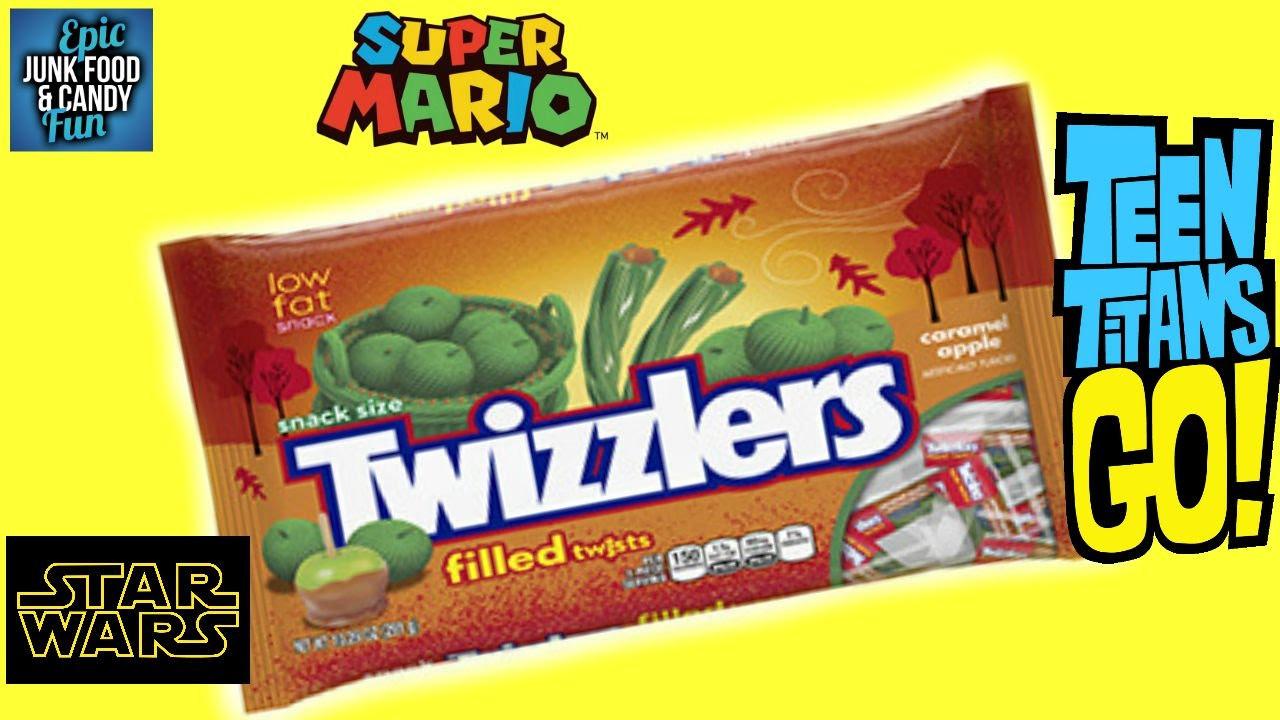 Teen Titans Go! Caramel Apples; Halloween  TEEN TITANS GO Halloween TWIZZLERS CARAMEL APPLE Kid