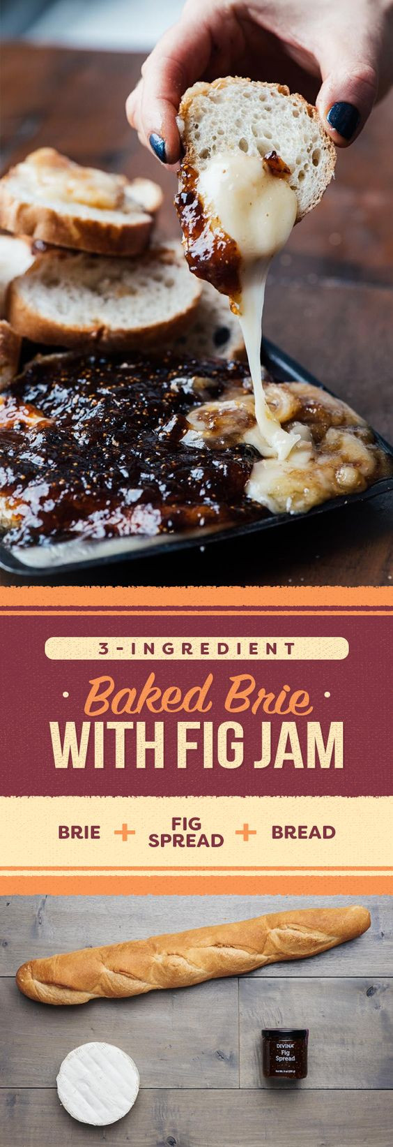 Thanksgiving 2019 Appetizers  Baked Brie with Fig Jam in 2019 food