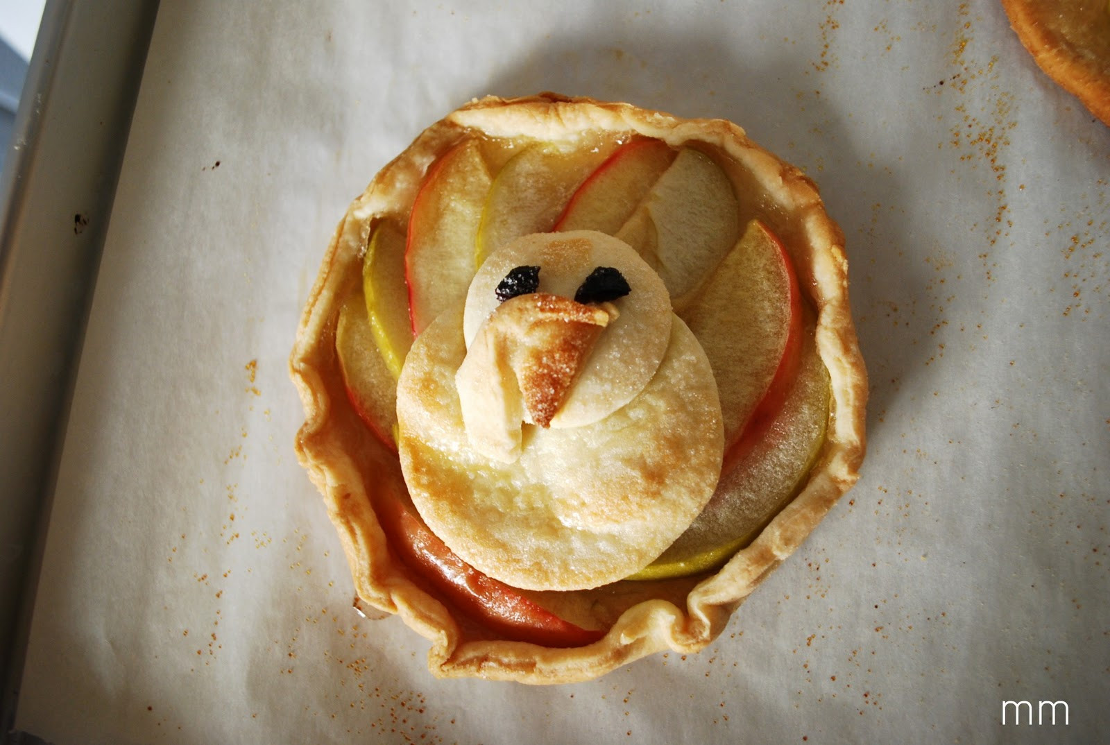 Thanksgiving Apple Pie  MirandaMade Turkey Shaped Apple Tarts