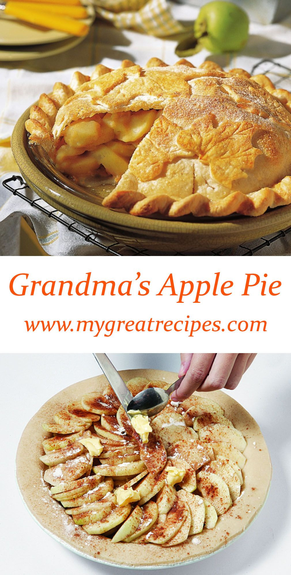 Thanksgiving Apple Pie  Grandma's Apple Pie Recipe