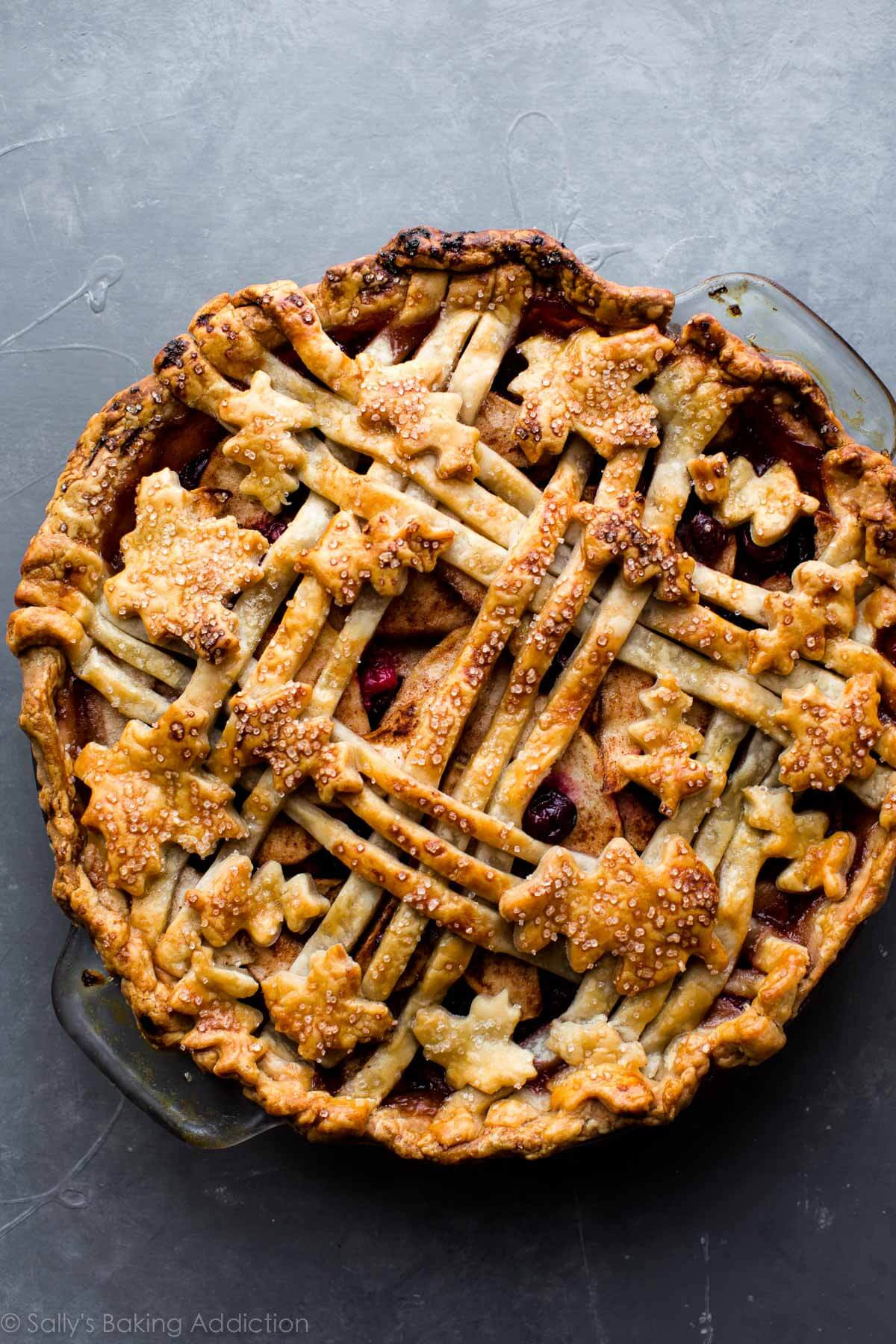 Thanksgiving Apple Pie  Cranberry Almond Apple Pie Sallys Baking Addiction