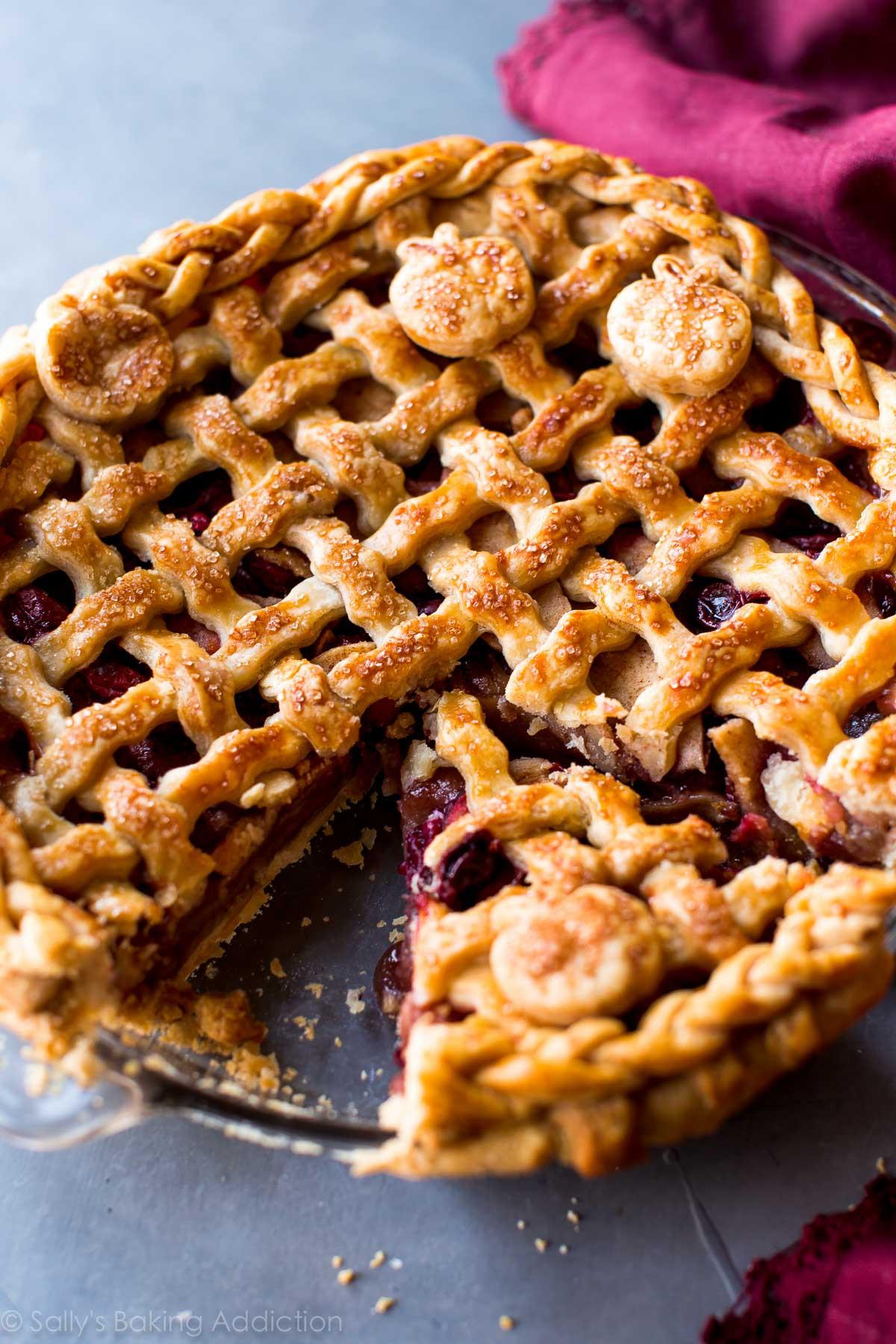 Thanksgiving Apple Pie Recipe  Apple Cranberry Pie