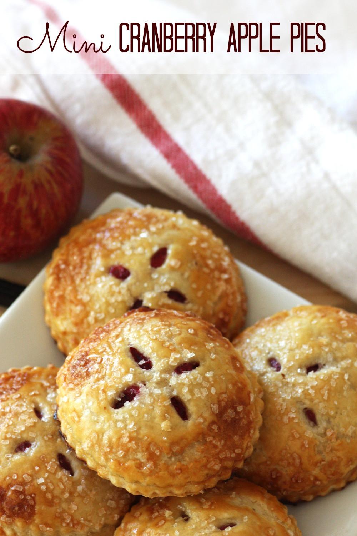 Thanksgiving Apple Pie Recipe  Mini Cranberry Apple Pies RECIPE