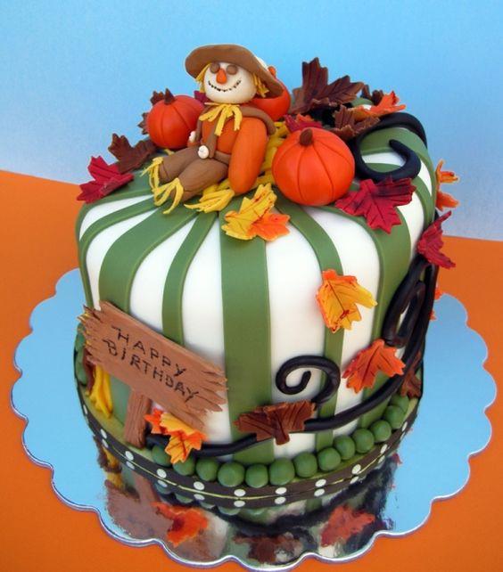Thanksgiving Birthday Cake  Southern Blue Celebrations THANKSGIVING FALL AUTUMN