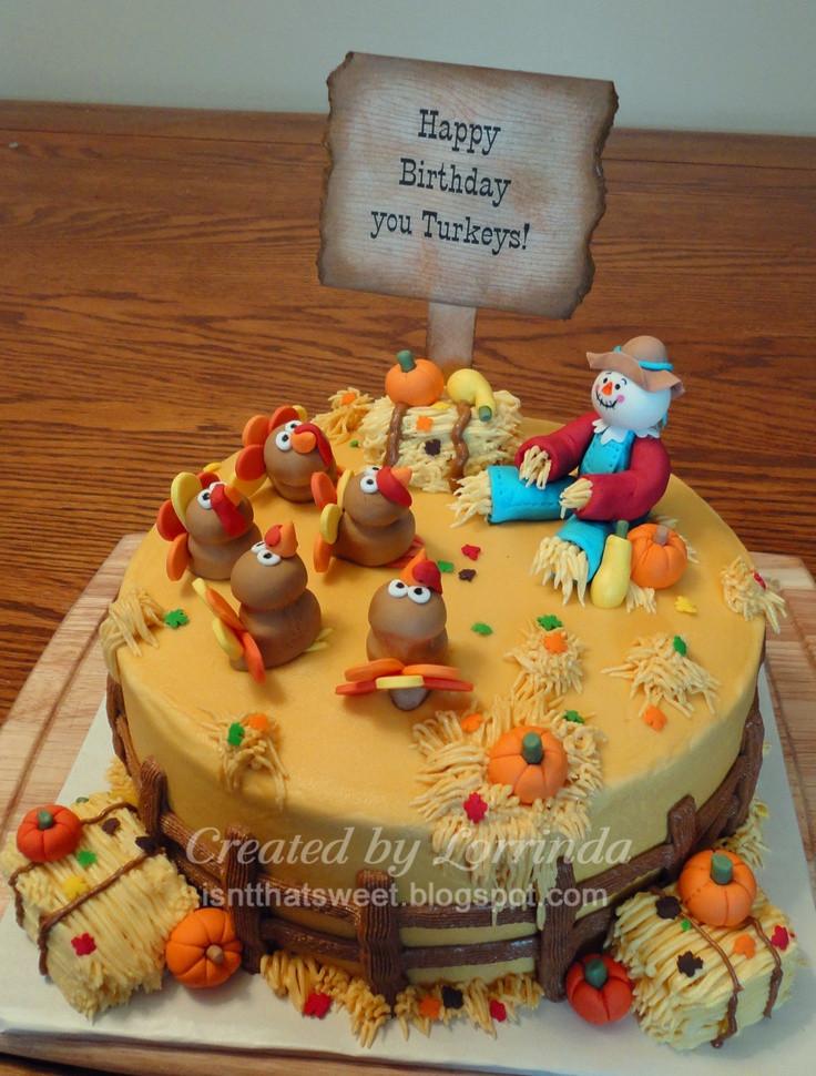 Thanksgiving Birthday Cake  25 best Autumn Cakes images on Pinterest
