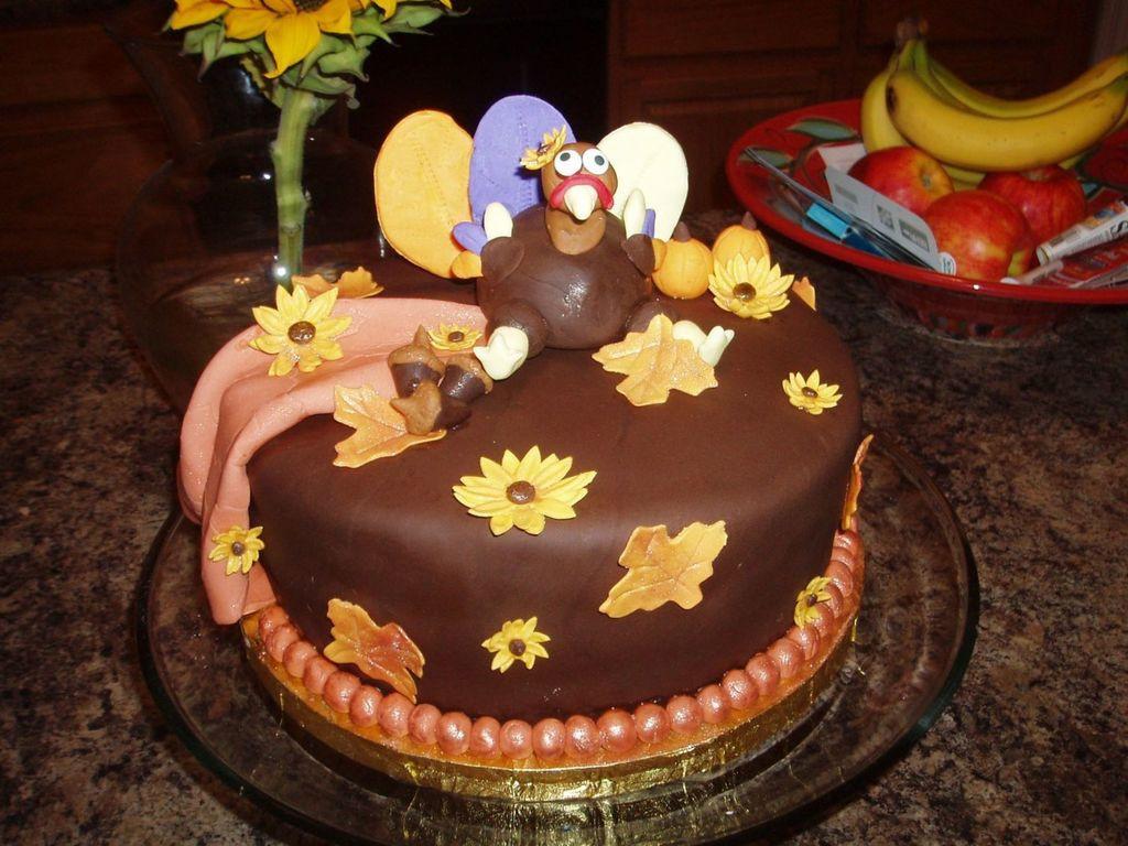 Thanksgiving Birthday Cake  turkey birthday cakes