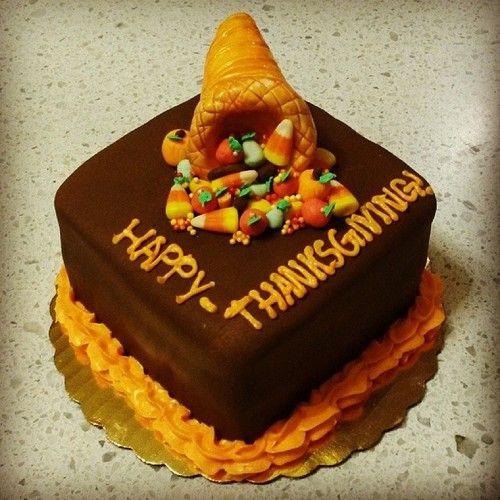 Thanksgiving Birthday Cake  Thanksgiving cornacopia Cakes