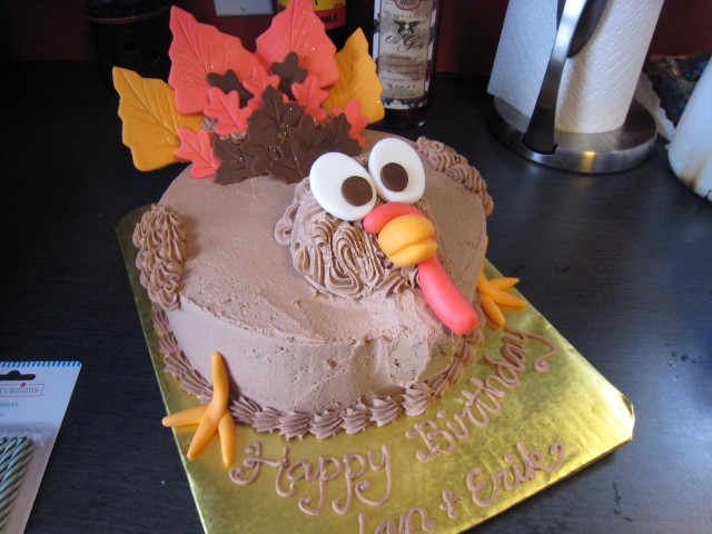 Thanksgiving Birthday Cake  Thanksgiving