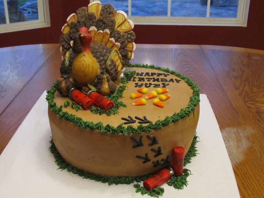 Thanksgiving Birthday Cake  Turkey Hunting Cake With Shotgun Shells CakeCentral