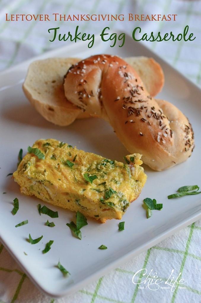 Thanksgiving Breakfast Casserole  Leftover Thanksgiving Breakfast Recipe Turkey Egg
