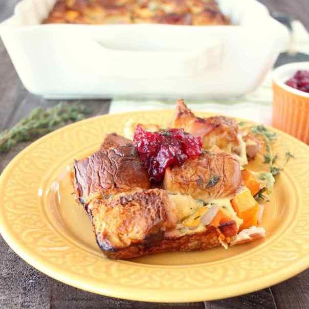 Thanksgiving Breakfast Casserole  Breakfast Casserole with Thanksgiving Leftovers