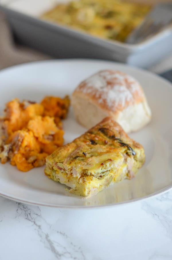 Thanksgiving Breakfast Casserole  Healthy Leftover Turkey and Veggie Breakfast Casserole