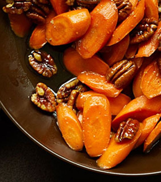 Thanksgiving Carrot Recipes  Glazed Carrots with Pecans Recipe