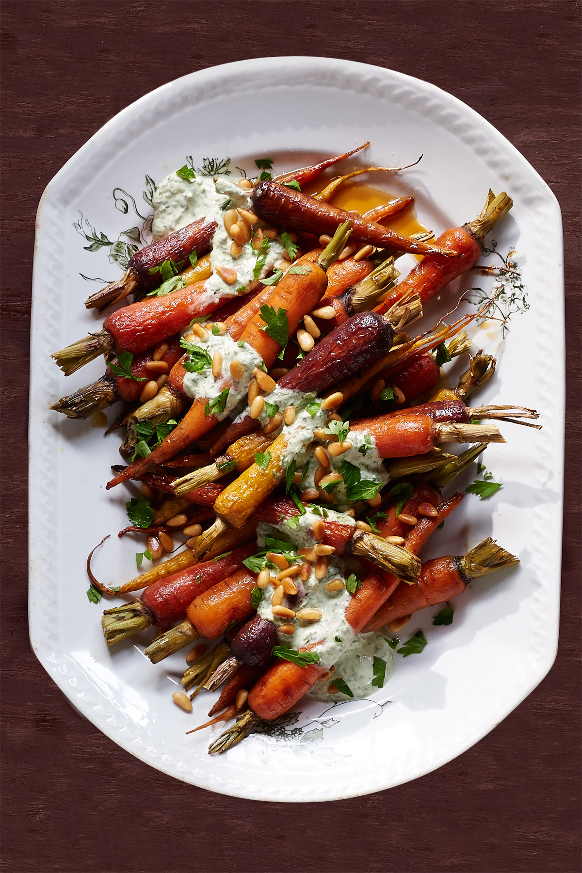 Thanksgiving Carrot Recipes  Orange Carrots with Yogurt Parsley Dressing