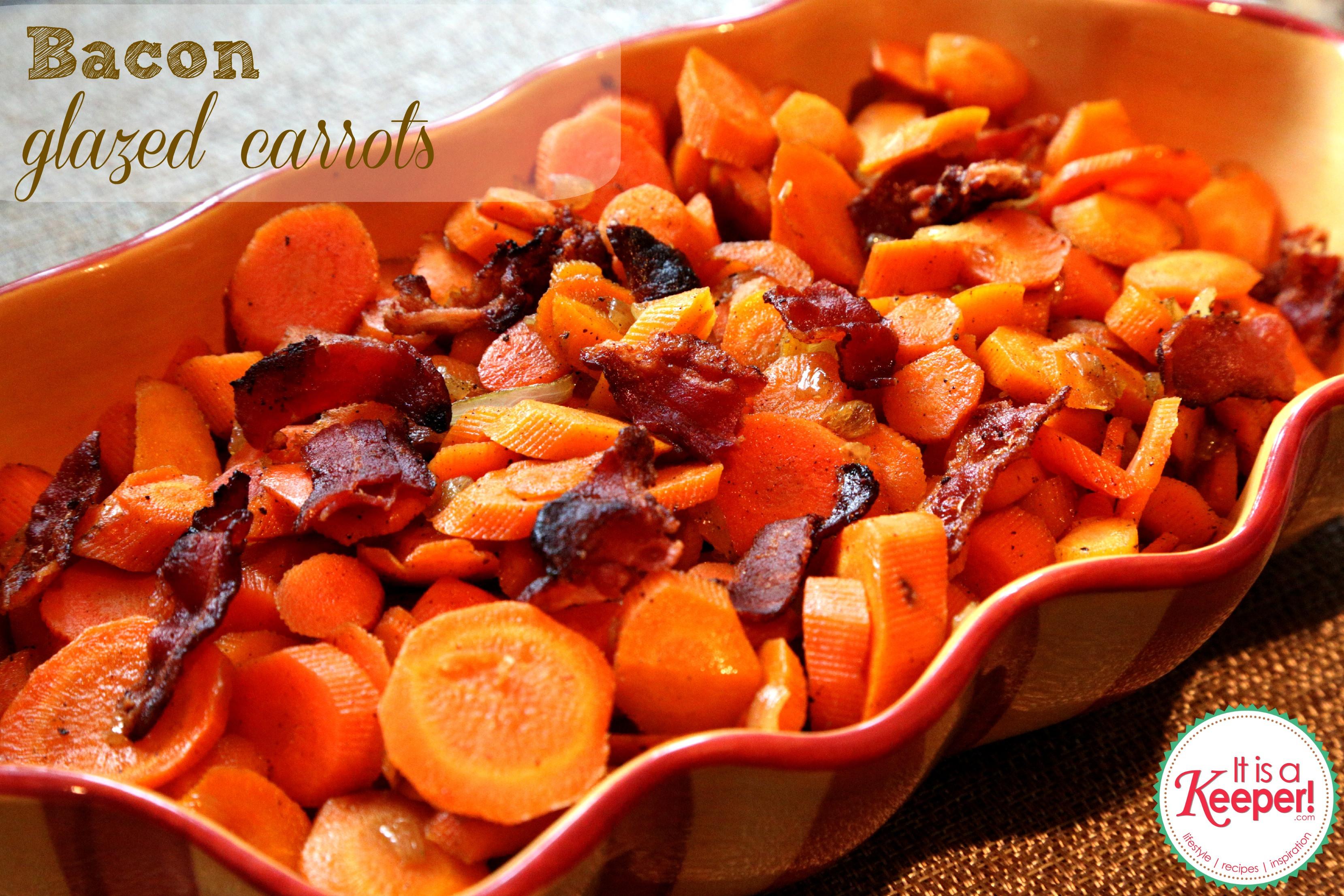 Thanksgiving Carrot Recipes  Bacon Glazed Carrots