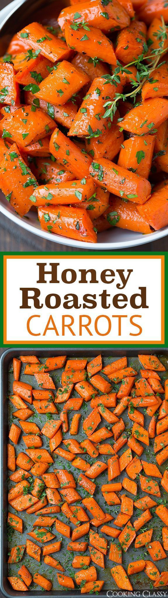 Thanksgiving Carrot Recipes  Check out Honey Roasted Carrots It s so easy to make