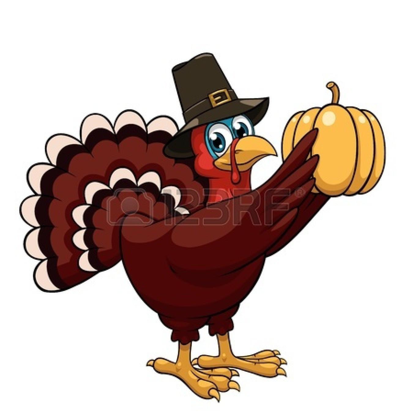 Thanksgiving Cartoon Turkey  Happy Thanksgiving Turkey Clipart Black And White