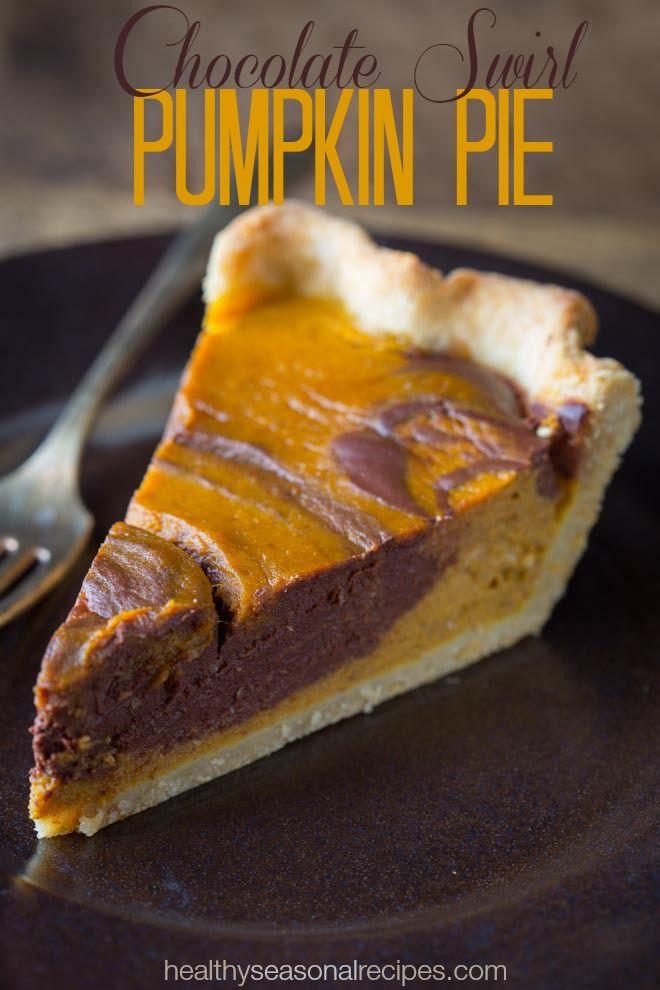 Thanksgiving Chocolate Pie  Chocolate swirl pumpkin pie Recipe