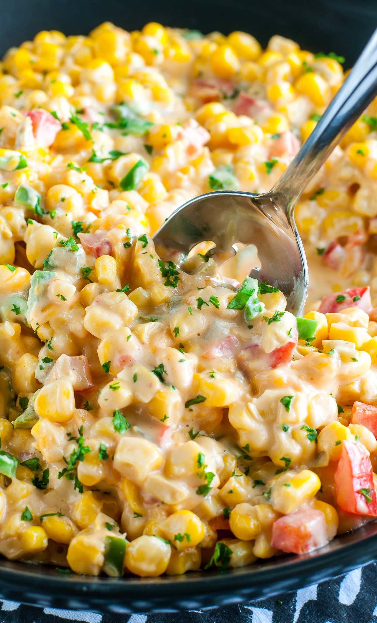 Thanksgiving Corn Recipes  Spicy Southern Hot Corn Peas and Crayons Recipes