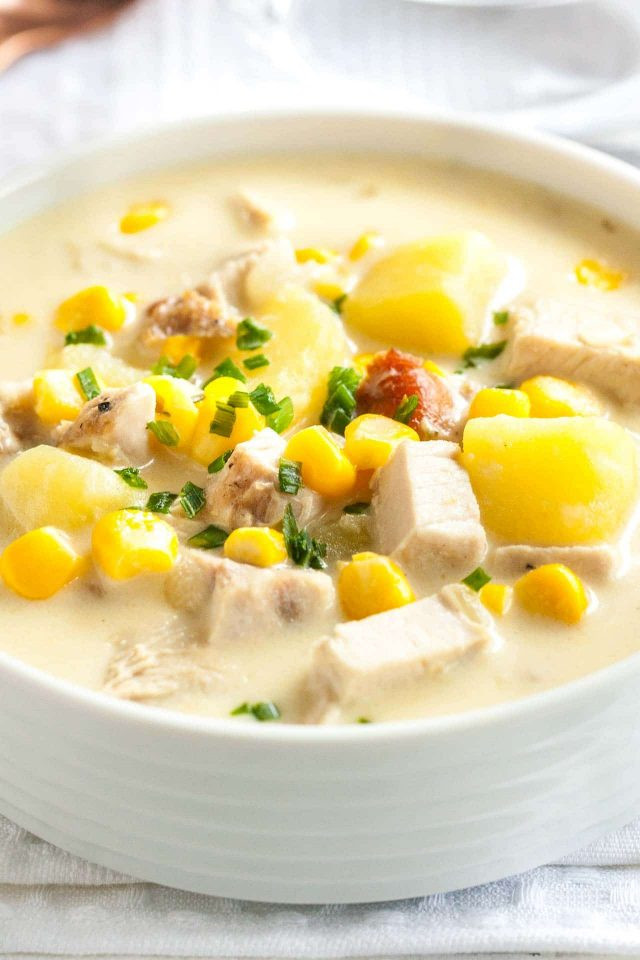 Thanksgiving Corn Recipes  Creamy Leftover Turkey Soup Easy Turkey Corn Chowder Recipe