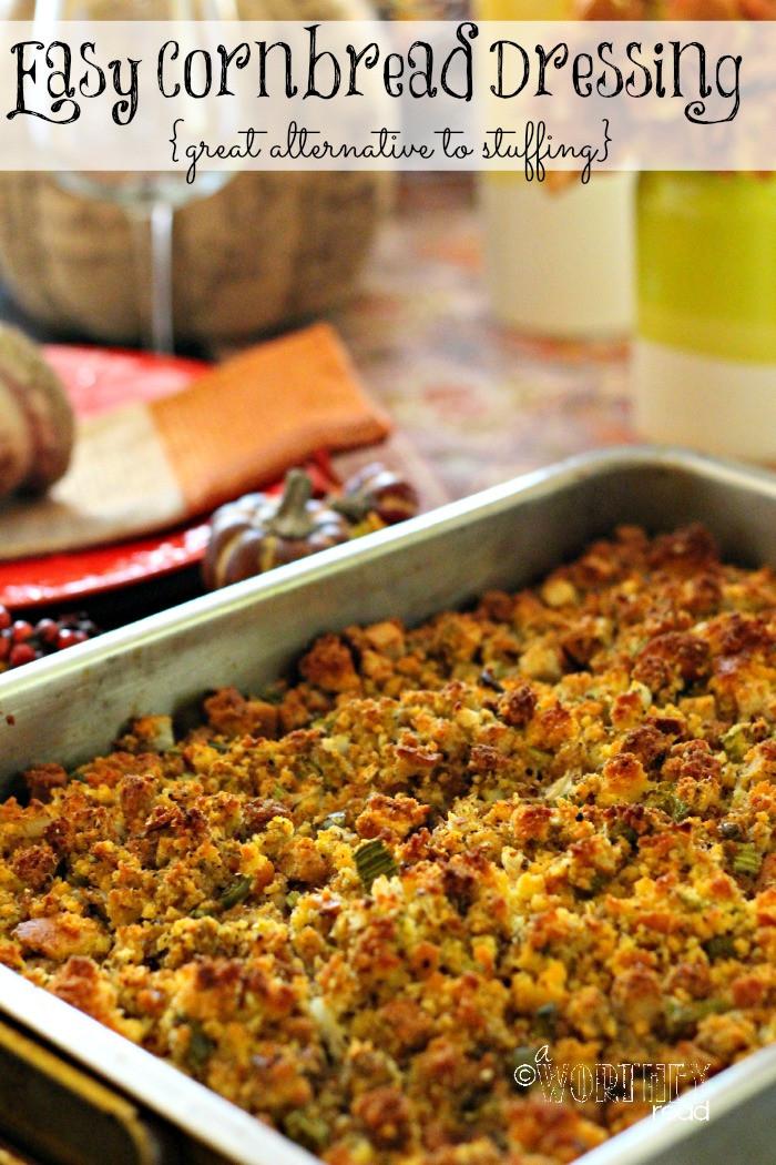 Thanksgiving Cornbread Dressing  Best Stuffing Recipe Easy Cornbread Dressing Recipe