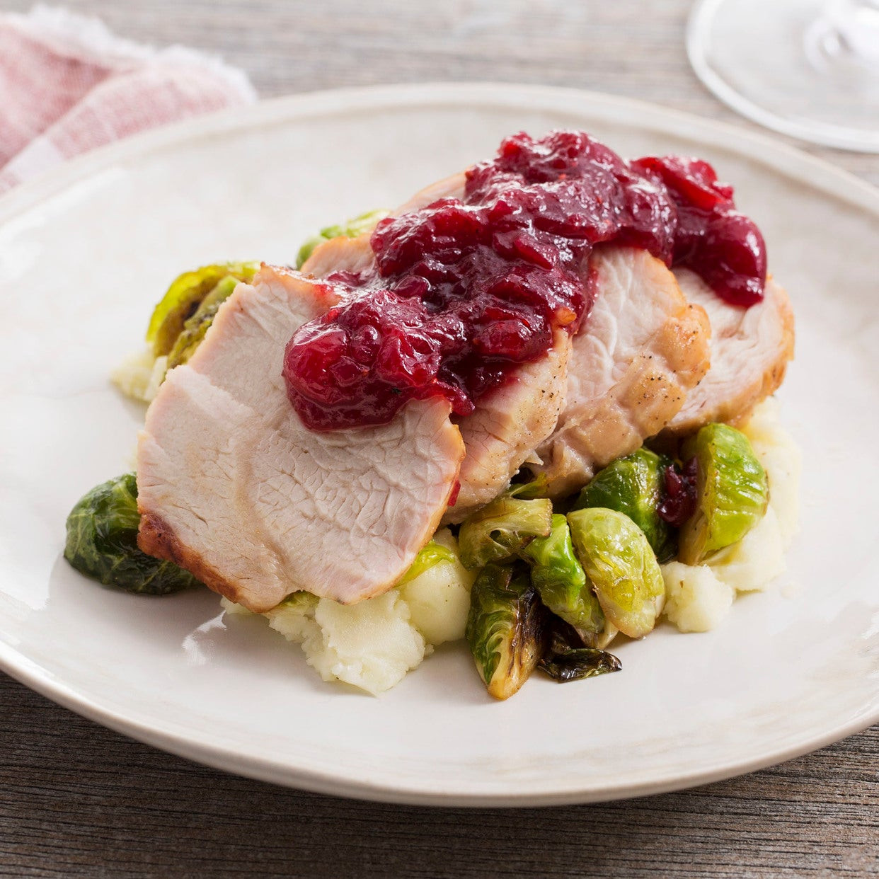 Thanksgiving Cranberry Recipes  Recipe Roast Turkey & Cranberry Sauce with Brussels
