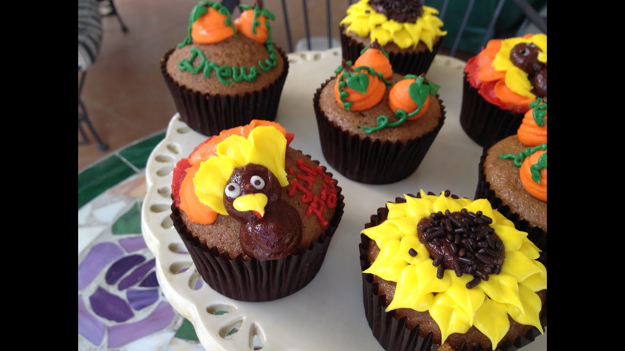 Thanksgiving Cupcakes Decorating Ideas  How to Make EASY Thanksgiving Cupcakes kid friendly