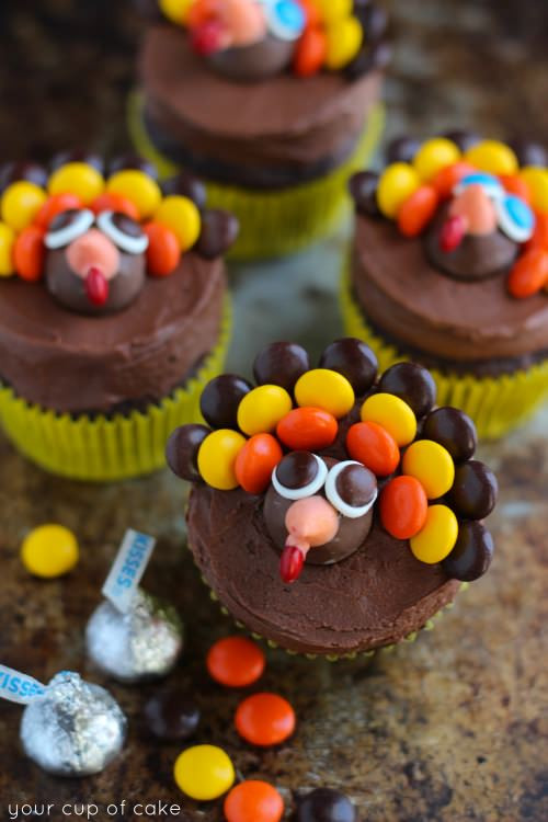 Thanksgiving Cupcakes Decorating Ideas  Turkey Cupcakes Thanksgiving Cupcake Decorating Your