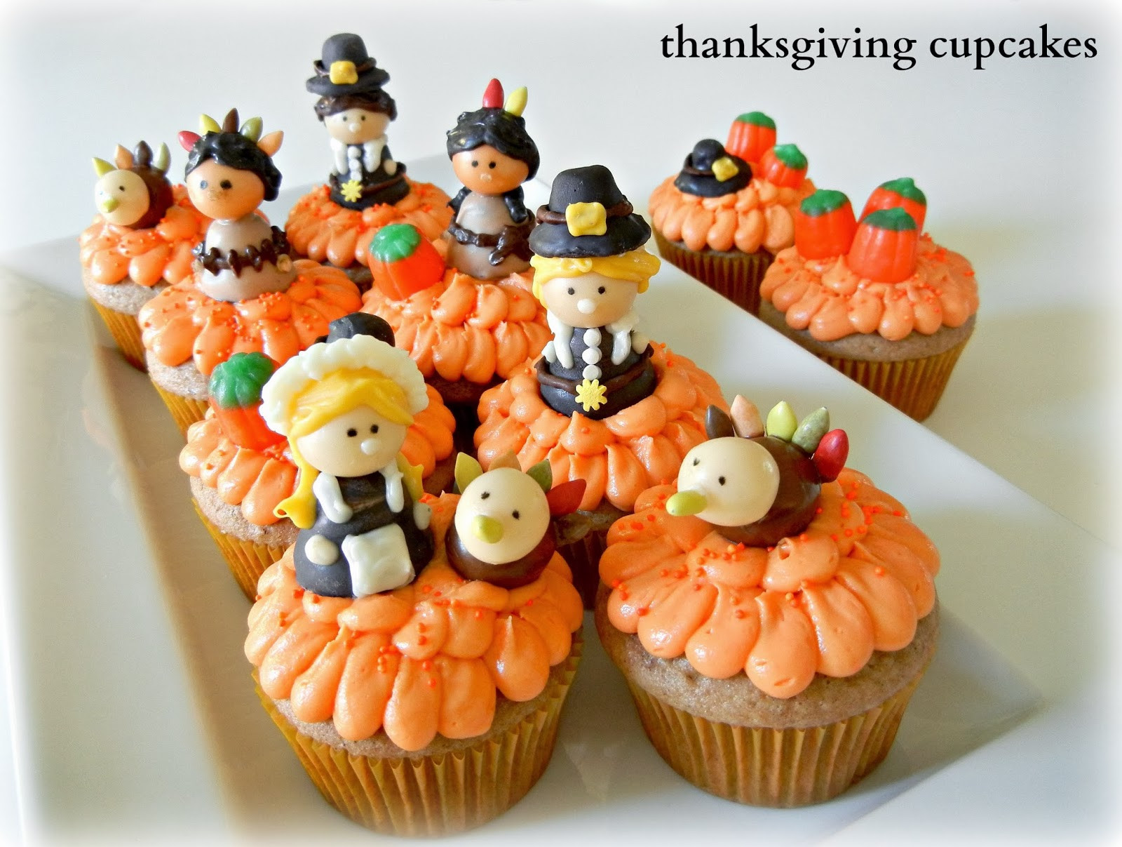 Thanksgiving Cupcakes Decorations  Sugar Swings Serve Some Thanksgiving Cupcakes with