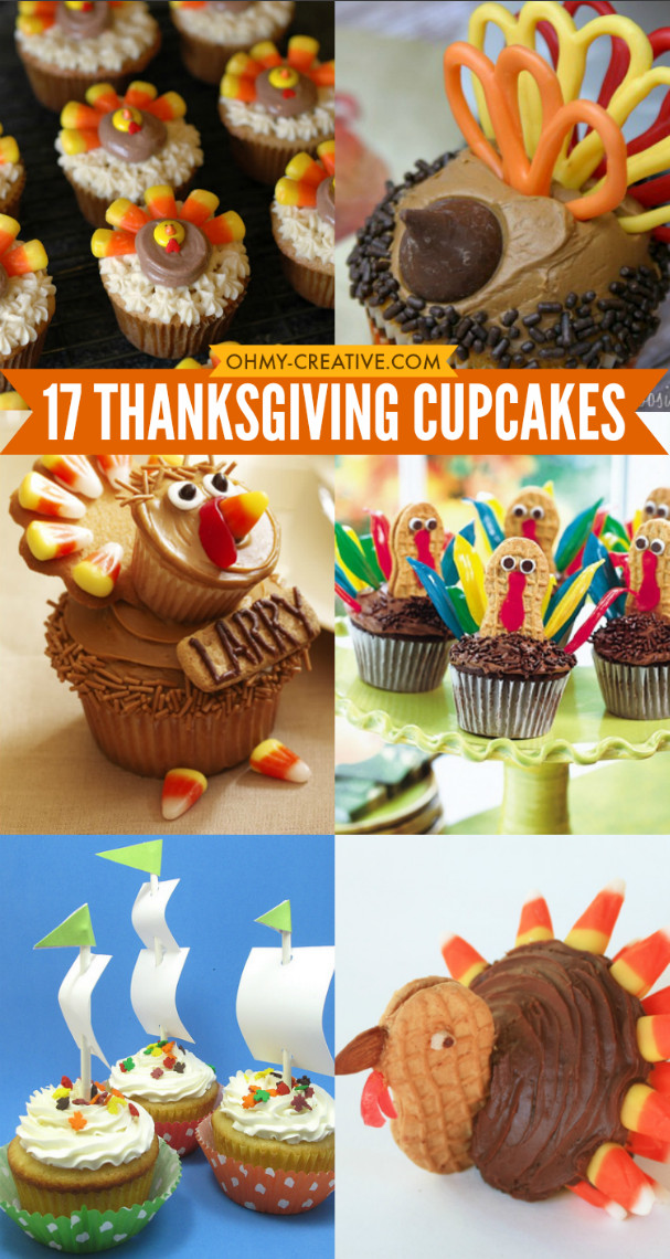 Thanksgiving Cupcakes Decorations  17 Thanksgiving Cupcakes Oh My Creative
