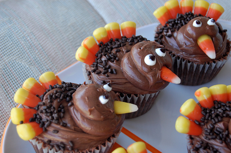 Thanksgiving Cupcakes Decorations  Food Ideas for Thanksgiving – Food 4 Your Mood