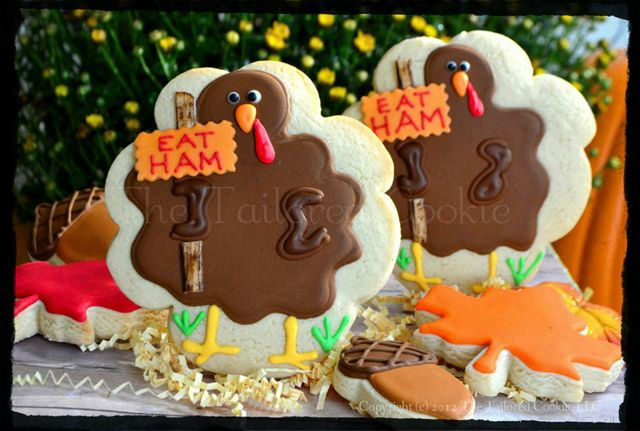 Thanksgiving Cut Out Cookies  75 best Cut Out Cookies Thanksgiving Fall images on
