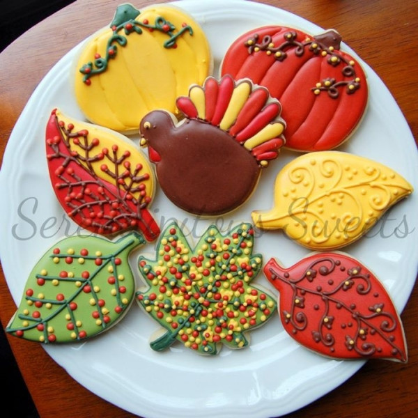Thanksgiving Cut Out Cookies  serendipity sweets