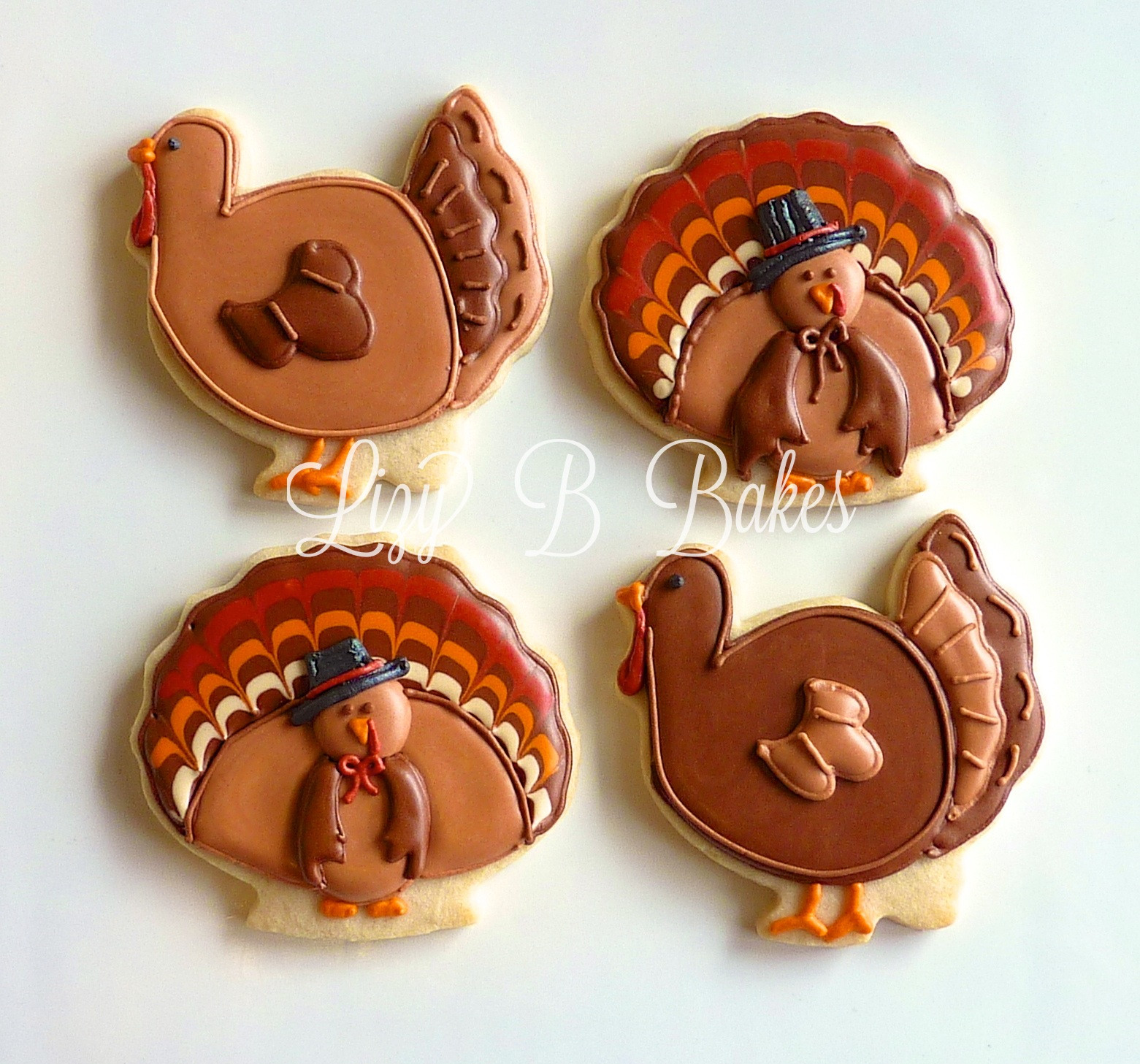 Thanksgiving Cut Out Cookies  Lizy B Turkey Cookies