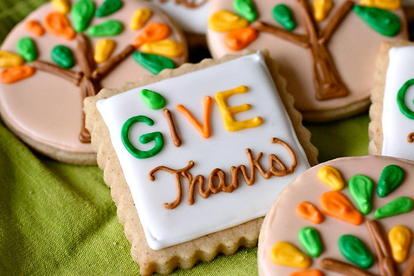 "Thanksgiving Cut Out Cookies  Spiced Brown Sugar ""Give Thanks"" Cookies Hostess with"