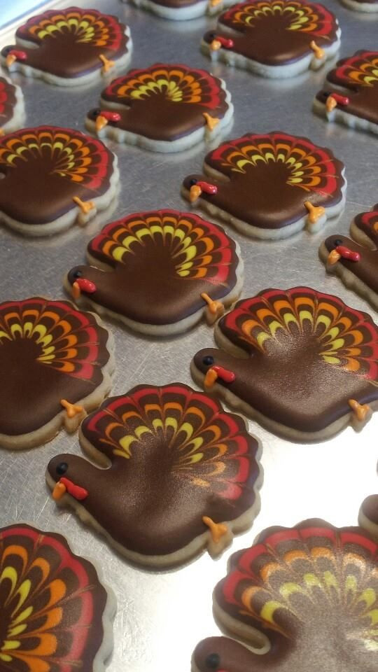 Thanksgiving Cut Out Cookies  Turkey Time Cut out cookies Pinterest