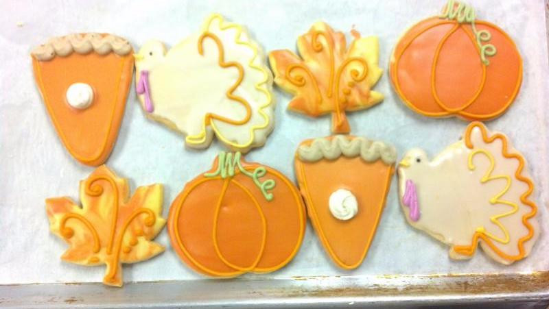 Thanksgiving Cut Out Cookies  Thanksgiving Pie Cut Out Cookie & Dinner Roll Orders
