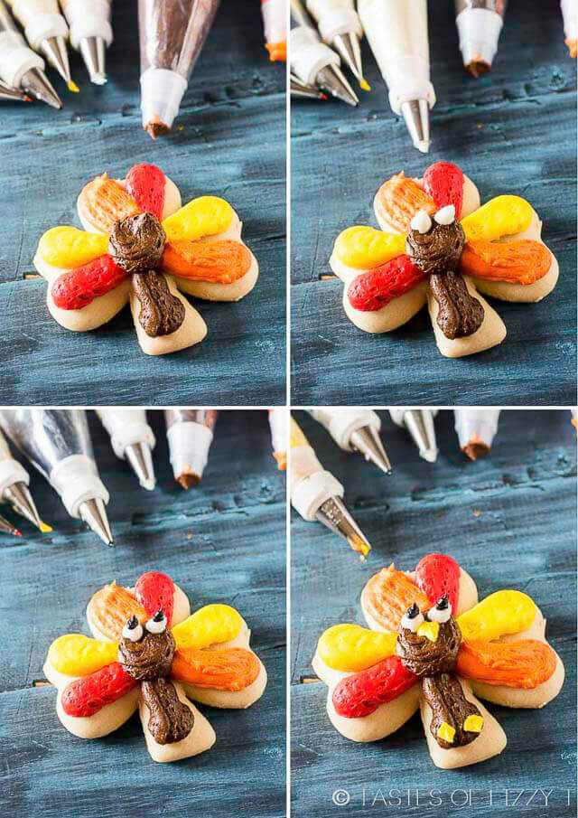 Thanksgiving Cut Out Cookies  Turkey Cookies for Thanksgiving Cut Out Cookies with