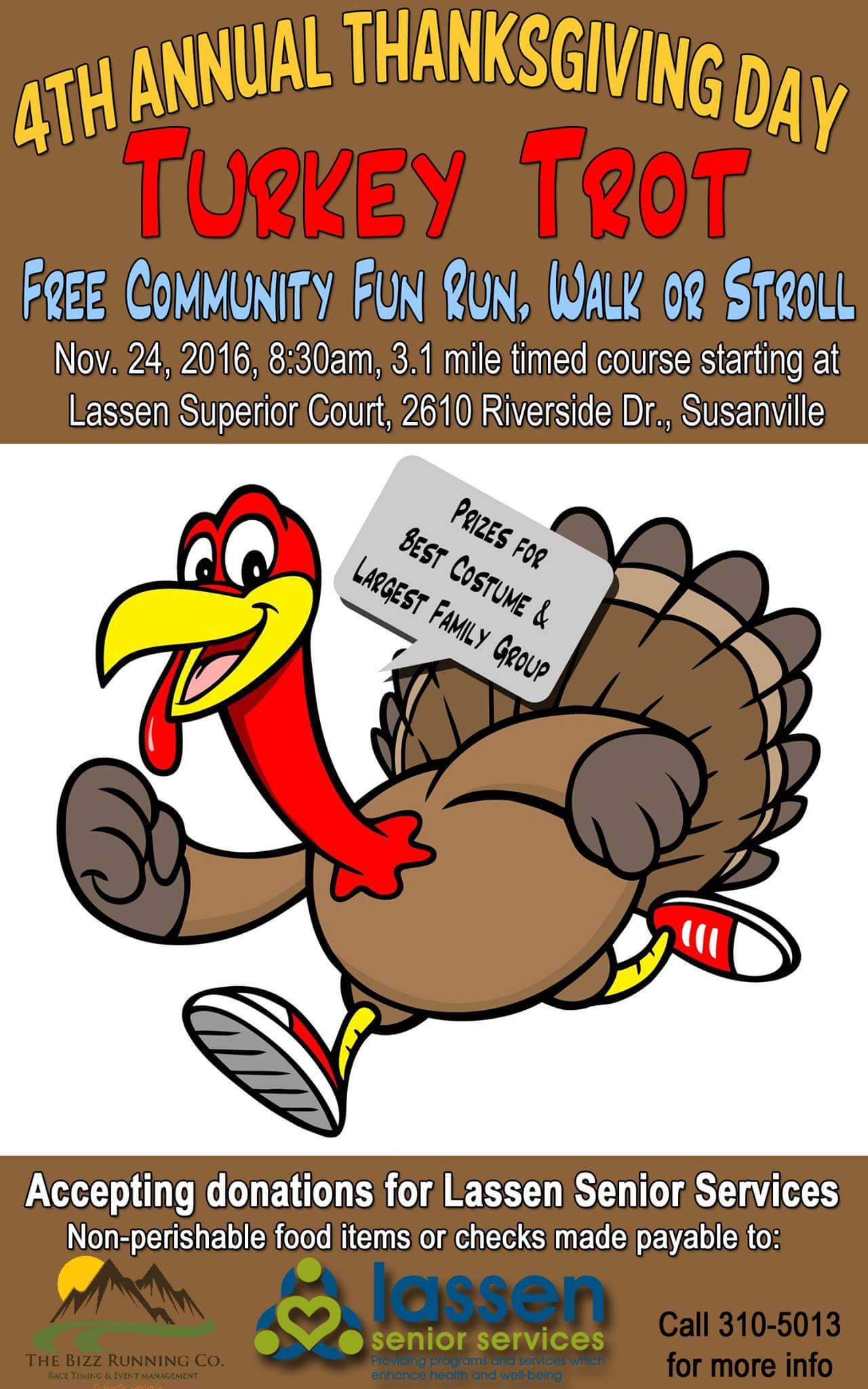 Thanksgiving Day Turkey Trot  4th Annual Thanksgiving Turkey Trot This Thursday