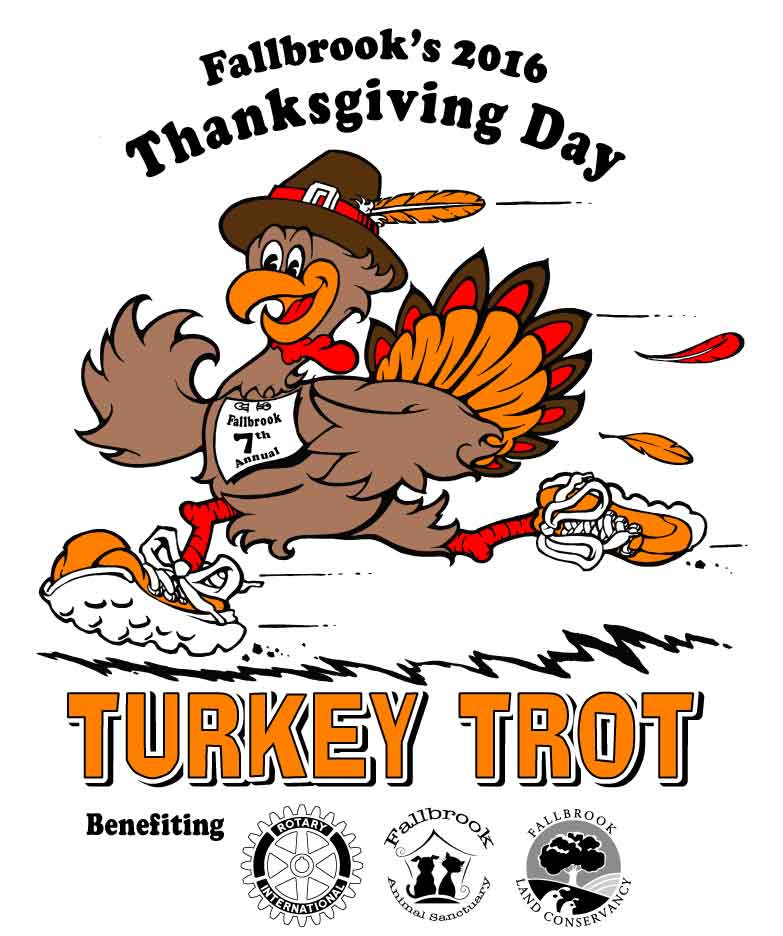 Thanksgiving Day Turkey Trot  Fallbrook Thanksgiving Day Turkey Trot Fallbrook CA